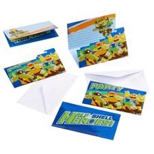 Ninja Turtles Half Shell Heroes, Invitasjoner, 8 stk.