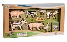 Bondgårdsdjur med grisar, Matsäker plast, Wenno