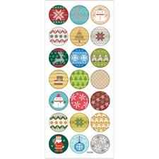 Klistermärken Julbroderi 1 ark
