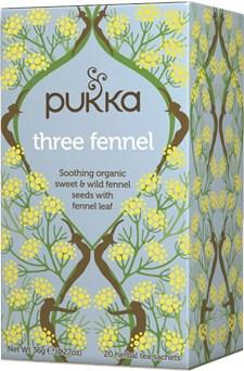 Pukka Te Three Fennel Tepåsar 20 st Ekologisk