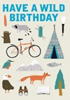Kort med Kuvert Have A Wild Birthday Roger la Borde