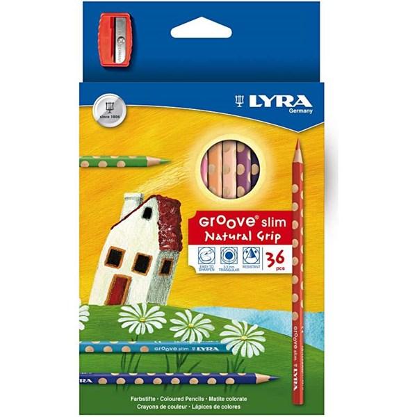 Färgpennor och pennvässare, Lyra, Groove Slim 3,3 mm 36 Färger