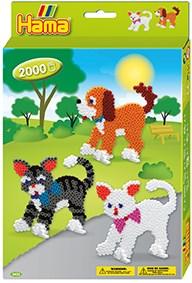 Hama Midi Gaveeske, Hunder og katter, 2000 perler
