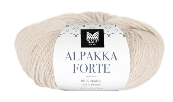 Dale Garn Alpakka Forte Garn 50 g Lattebeige melert 701