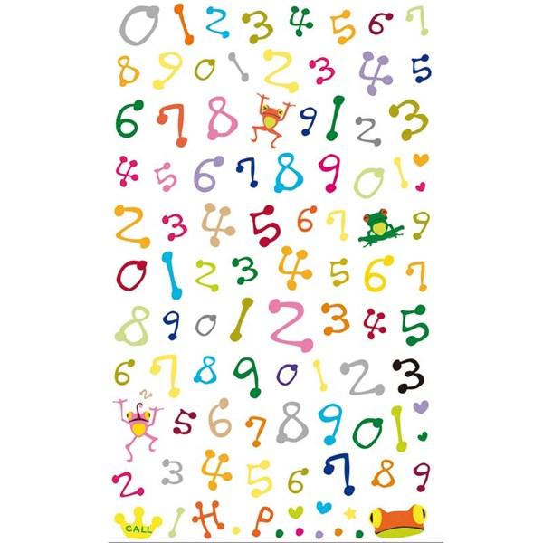 Ypperlig Klistremerke Siffer Flerfargede, Paper Poetry- klistermerker FV-97