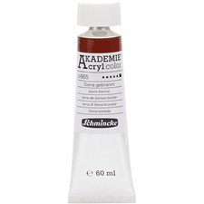 Schmincke AKADEMIE® Acryl color, opaque, extremely light fast, 60 ml, burnt sienna (665)