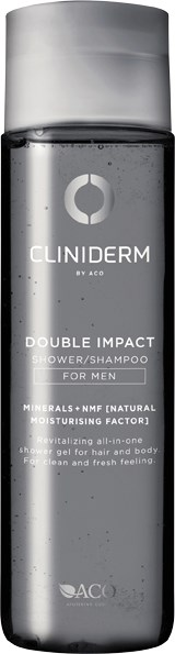Cliniderm For Men Double Impact, Shower/Shampoo 250ml