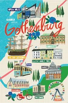 Göteborg, muistikirja, jumbo 100 sivua