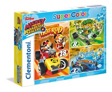 Pussel 3 i 1 Mickey Mouse, 148 bitar, Clementoni