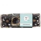 Egg, H: 6 cm, 12 stk., svart