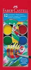 Vattenfärger Faber-Castell Plastetui 12 Färger