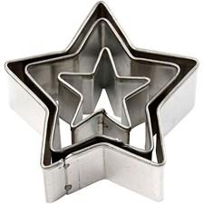 Kakformar Stjärna 3 st