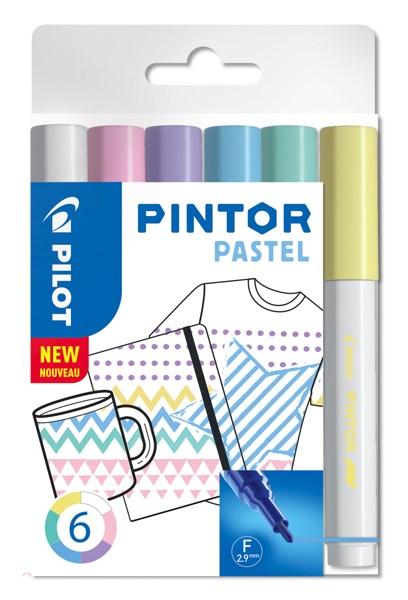 Pintor DIY-tusjer 6 stk. Ass Regular Mix - Fine