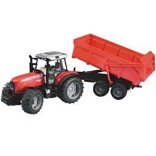 Massey Ferguson med traktorvogn, Bruder