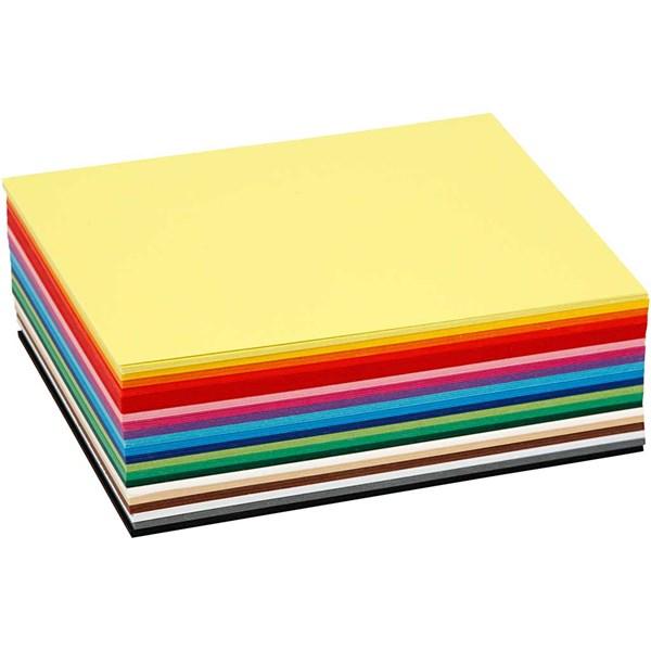 Creativ kartong, A6 10,5x15 cm, 180 g, 120 mixade ark, mixade färger