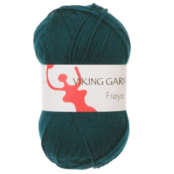 Viking of Norway Froya Garn Ullmix 50g Mörk petrol 233