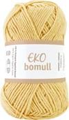 Järbo Eko bomull Garn Eko Bomull 50g Ljusgul (63204)