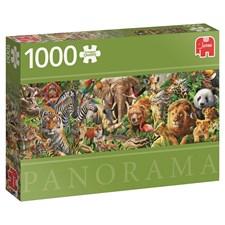 African Wildlife, Panoramapussel 1000 bitar, Jumbo