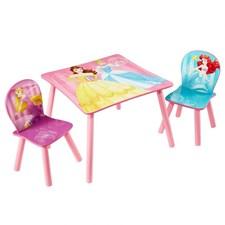 Möbelset, Bord & 2 stolar, Disney Princess