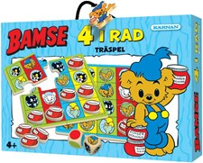Bamse Träspel 4 i Rad, i ask