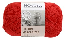 Novita Cotton Mercerized Bomullgarn 100 g, jul 544