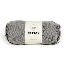 Adlibris Bomull Garn 100g Medium Grey A083