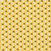 Stoff Blomster Sennepsgul, 50 x 160 cm