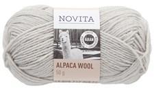 Novita Alpaca Wool Lanka Alpakka 50 g, jäkälä 407