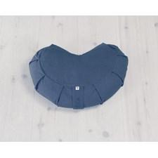Meditasjonspute, Halvmåneformet, Blueberry Blue, Yogiraj