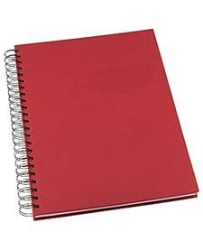 Anteckningsbok Grieg Design A4 100 gram linjerat Röd