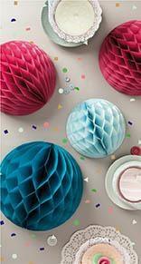 Honeycomb, Ball, 3 stk., 30/25/20 cm, Fashion, Rico Design