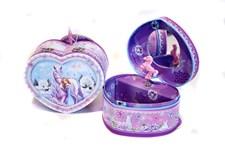 Smyckeskrin med speldosa , Lila, Häst