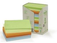 Notater POST-IT 100 % resirkulert 127x76 mm Rainbow (16)