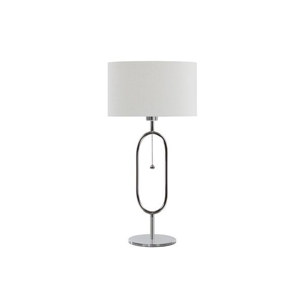 Globen Lighting Diva Bordslampa B  21 D  10 H  48 cm Krom   Vit  Globen Lighting AB