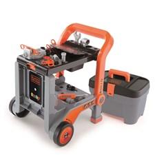 Arbetsbänk & verktygslåda 3 in 1, Black & Decker, Smoby