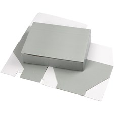 Pappeske, LxBxH 15,5x5x22 cm, lys grå, 1stk.