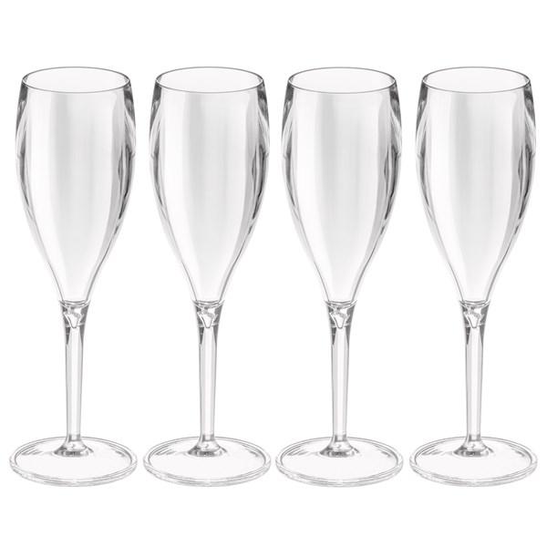 Koziol Cheers No. 1 Crystal Champagneglas 4 Pack Klar
