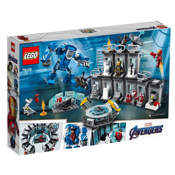 Iron Mans rustningskammare  LEGO Marvel Avengers Movie 4 (76125)  Lego