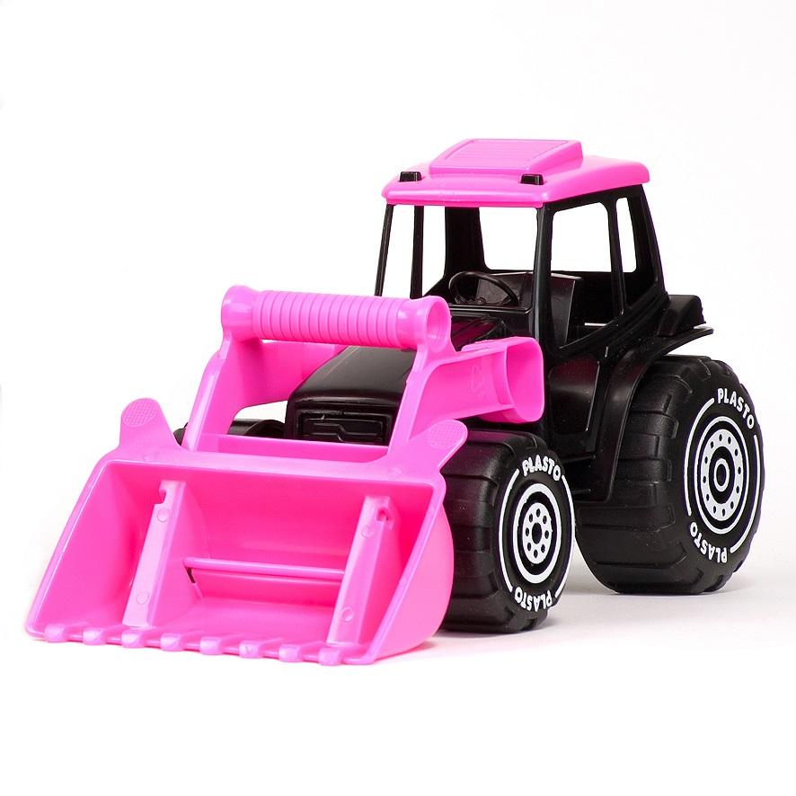 rosa traktor leksak