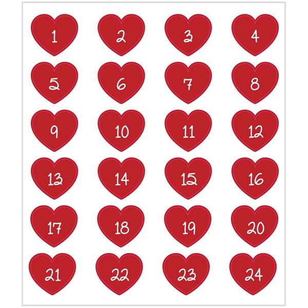 Stickers, ark 15x16,5 cm,  24 stk., adventstall, 1ark