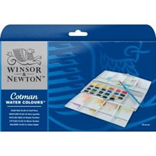 Winsor & Newton Cotman Akvarell pan paintingbox PLUS 24x1/2-kopp