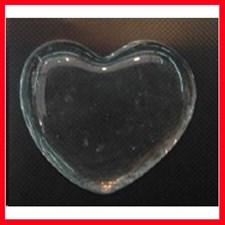 Glashjärta 6,5x6,5 cm Transparent 20 st