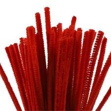 Piperensere, tykkelse 6 mm, L: 30 cm, rød, 50stk.