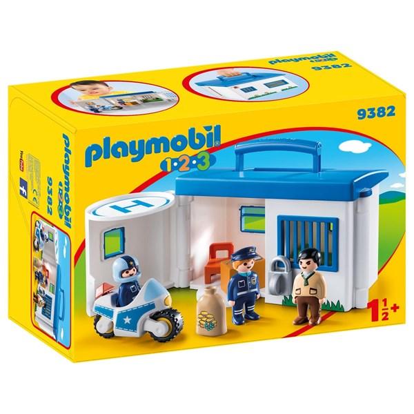 Polisstation att ta med  Playmobil 1.2.3 (9382) - playmobil