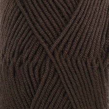 Drops Merino Extra Fine Uni Colour Garn Merinoull 50g Mörkbrun (09)