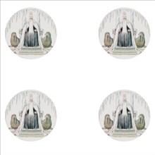 Elsa Beskow Collection Glasunderlägg 4-pack Kung Vinter