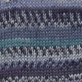 Drops FABEL PRINT 522 turquoise/blue
