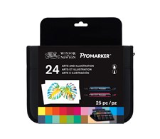 """Promarker Set med 24 st Markers """"Arts & Illustration"""" i en Praktisk Väska"""