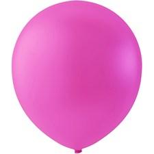 Ballonger, dia. 23 cm, 10 st., mörkrosa