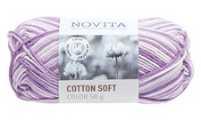 Novita Cotton Soft Color Bomullsgarn 50 g syren 870